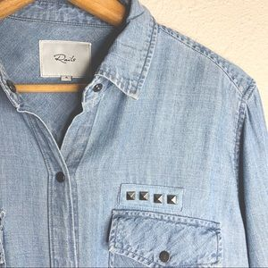 RAILS Kade Studded Denim Shirt